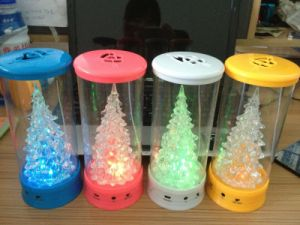 Portable Mini Christmas Lamp Speaker for Mobile Smart Phone