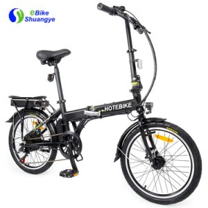 Hot Sale Electric Bicycle with Motor En15194 20-Inch Folding Ebike 36V 250W