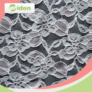 Schiffli Lace Embroidery Fabrics Nylon and Spandex Elastic Lace Fabric pictures & photos