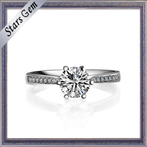 Wholesale Price 18k White Gold Female Ring pictures & photos