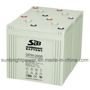 SBB Brand 2V2000ah Deep Cycle AGM 2V Battery pictures & photos