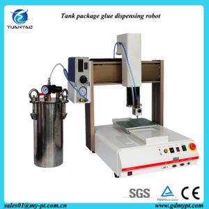 Space Saving Desktop Automatic Liquid Gluing Machine with Tank pictures & photos