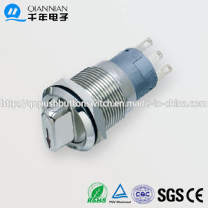 19mm 1no Nc/2no 2nc 2position 3position Knob IP50 Ik10 Push Button Switch pictures & photos