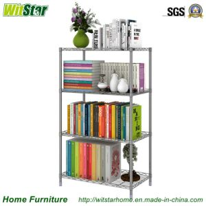 Hot Sale 4 Tier Adjustable Metal Storage Rack (WS16-0038, for home storage)