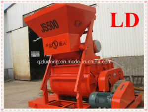 Twin Shaft Compulsory Electric Concrete Mixer, China Concrete Mixer Manufacturer (JS500)
