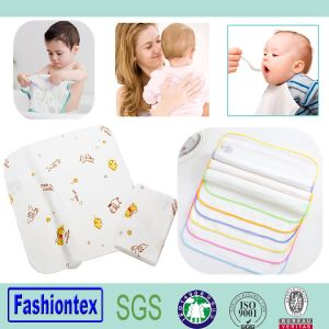 100% Cotton Baby Muslin Wash Cloth pictures & photos