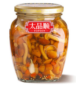 Canned Mix Marinated Mushrooms in Glass Jar pictures & photos