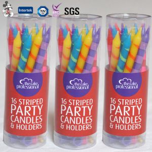 New Style Singing Happy Birthday Customized Decorative Spiral Candles
