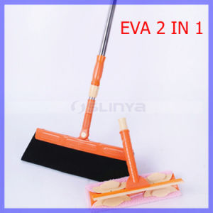 Multifunction Magic EVA Hair Glass Cleaning Besom Mop Sweeper Dust Bathroom Wiper Brooms 180 Degree Rotate Mop Tools Jsl020 pictures & photos
