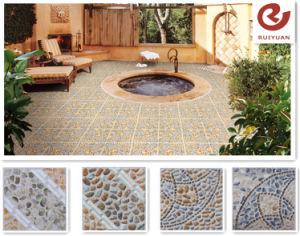 China Cheap Outdoor Hall Tile Balcony Pebble Stone Ceramic Floor