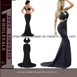 Top Sexy Black Stylish Evening Party Prom Dress (61052) pictures & photos