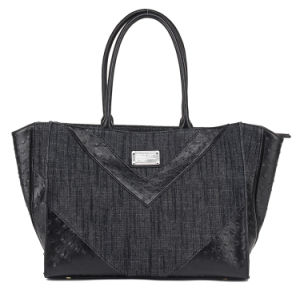 Jeans with Ostrich PU Leisure Style Lady Handbag (pH1835)