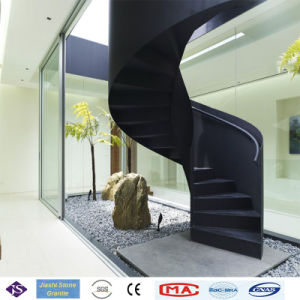 Polished Absolute Black Granite Stair Steps For Indoor