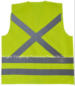 Overall Workwear/ Safety Vest with High Visibility Reflective Tape pictures & photos