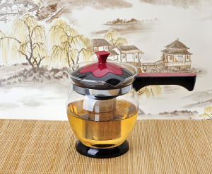 China Clear Glass Cooking Pot Tea Pot With Straight Handle China