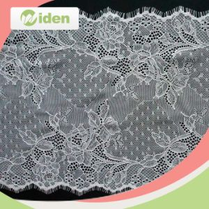 Wholesale Nylon Eyelash Lace Bridal Cord French Chantilly Lace Fabric pictures & photos
