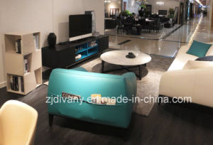 Italian Fashion Style Blue Leather Single Sofa (D-76A) pictures & photos