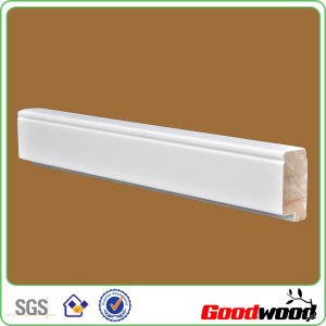 Wood Plantation Shutter Components White Primer Louver Stiles