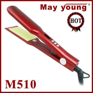 Wholesale New Design LCD Display Titanium Hair Straightener pictures & photos