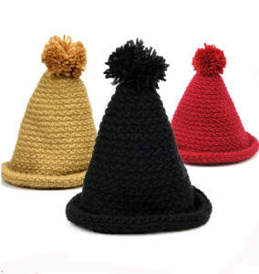 Fashion Colorful Sharp-Angled Winter Beanie Hat pictures & photos
