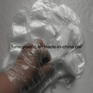 Plastic Disposable HDPE Gloves with Print Outer Bag