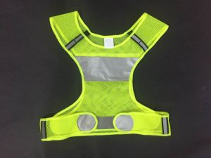 Sports Safety Vest Made of Yellow Mesh Fabric 62cm*62cm, Factory in Ningbo, China pictures & photos