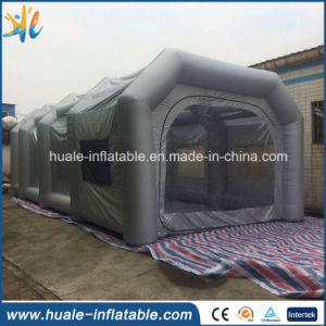 Large Grey Oxford Cloth Tent Inflatable with Transparent Windows