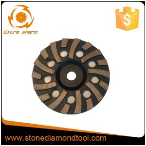 "7"" Turbo Hard Stone Floor Diamond Grinding Wheels pictures & photos"
