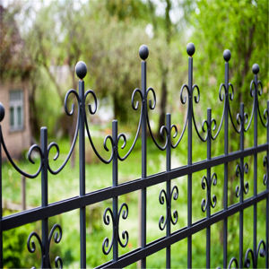 Residential 1.8m High New Discount Faux Wrought Iron Fencing Design