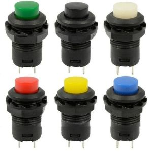 12mm 12V Momentary Push Button Horn Switch on-off Car Dashboard Boat Spst pictures & photos
