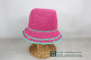 Paper Straw Hat for Kids (XH-PA2133)