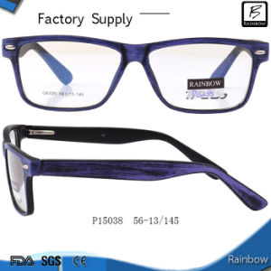 New Wooden Effect Plastic Spectacle Frames with Pins (P15038)