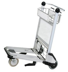 High Qulaity Luggage Trolley Cart with Advertisement Board