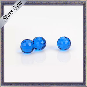 Transparent MID-Blue Factory Price Synthetic Gemstone Bead pictures & photos