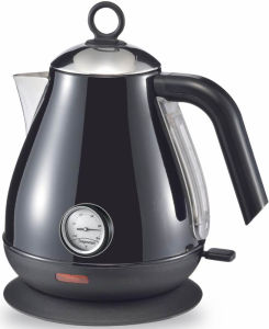 Black Color Stainless Steel Cordless Jug Electric Kettle with Thermometer pictures & photos