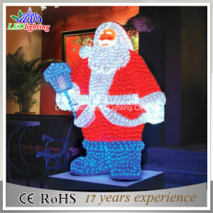 Hot Christmas Decoration 3D Acrylic Santa Claus