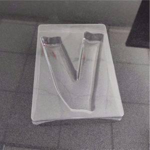 Custom Plastic Products Supplier V Shape Inner Packaging Tray (PVC/PET/PS tray)
