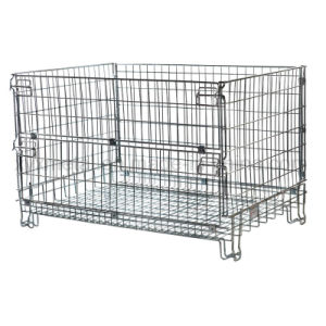 Euro Wire Formed Collapsible Storage Mesh Cage Pallet Hypacage pictures & photos