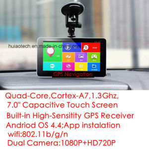 "2017 Factory Sale 7.0"" Android Car Dash DVR with Full HD1080p Front Camera; Rear Parking Camera; Adas Car Black Box, External 3G Tablet PC pictures & photos"