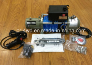 12000lbs Heavy Duty Electric Winch with Dyneema Rope pictures & photos