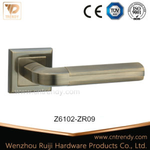 High Precision Zinc Casting Hollow Tube Door Lock Handle on Rose (Z6102)