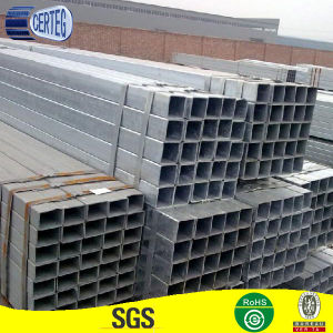 Cold Drawn Galvanized Treatment Rectangular Selection Shape Steel Tube pictures & photos