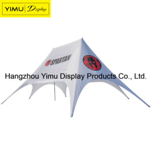 High Quality Printed Star Shaped Tent Custom Logo Red Bull Star Tent for Display pictures & photos