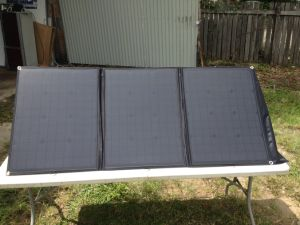 Sunpower 150 Watt Foldable Solar Panel Solar Blanket for Camping pictures & photos