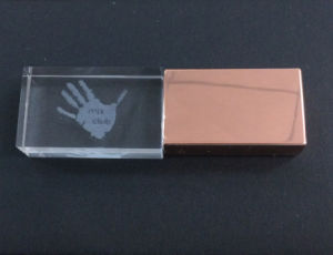 Cheaper Price 2GB 4GB 8GB 16GB Rose Gold USB with Engraved Logo and LED pictures & photos