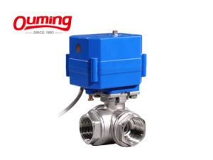 Small DC 12 V AC 110 V Electric Control Motorized Ball Valve