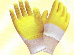 Interlock Latex Coated Gloves L1704 pictures & photos