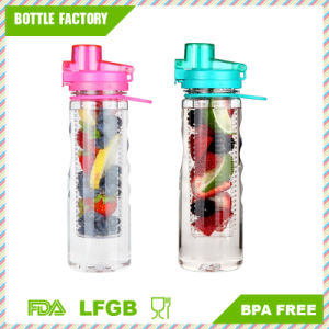 Plastic Fruit Infuser Water Bottle with Handle pictures & photos