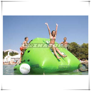 Custom Made Green Inflatable Water Iceberg Water Park Games