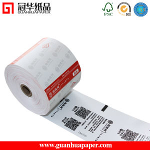 SGS Adhesive 57mm 58mm Thermal Paper Roll pictures & photos